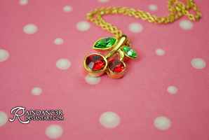 Cherry Necklace on Dots by Ra1nDanc3r