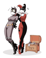 Harley and Selina by coutoo