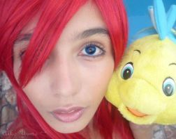 Ariel and flounder by aiko-yume