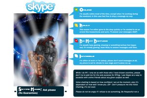 My Skype Status's and What They Mean by MoonlightStrider