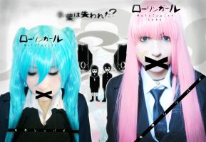 Rolling girl Luka x Miku by Mad-Hatter----X