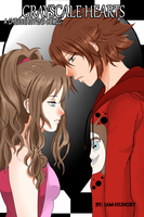 Pokemon chessshipping Grayscale Hearts comic cover by iam-hungry