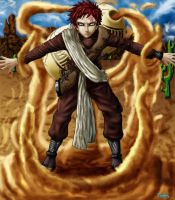 Revised (Pre-Time Skip) Gaara by Fnogis