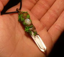 Relic of the Moondryads - handsculpted Pendant by Ganjamira