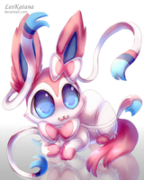 =Pokemon= Chibi Sylveon by LeoKatana