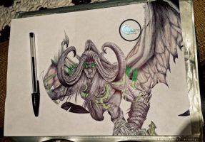 -WIP- Illidan (World of warcraft : Legion) by Caold