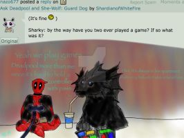 Ask DeadWolf-Video Games by ShardianofWhiteFire