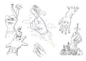 hand studies by RenMoraes