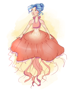 Jellyfish Ballerina by Linsketches