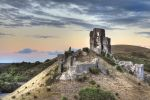 Corfe Castle at sunset HDR by Lianne-Issa