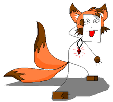 Sticky The Stick Fox by Paingiver