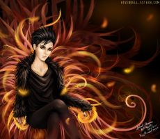 Black Phoenix Bill Kaulitz by rivyinrivendell