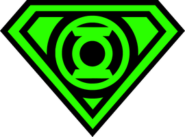 new superman green lantern shield by KalEl7