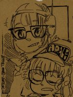 Arale and Lucca by Rin-Uzuki