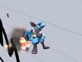 Lucario's Fire Fart by Zancoti