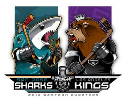 2014 NHL Playoffs Rd 1 Sharks vs. Kings by Epoole88
