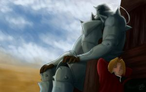 FMA: Waiting by Fyre-Dragon