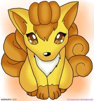 Pokemon: Shiny Vulpix Colab by mashashy