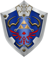 New Hylian Shield by BLUEamnesiac