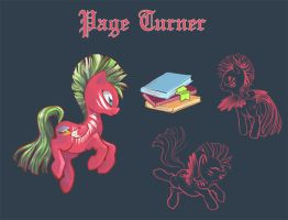 Commission: Page Turner by ponywise