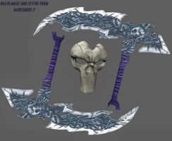 death mask and scythe frm darksiders 2 by sharonmudz