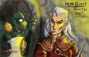 HeroQuest Elf and Fimir by WAH-HOO