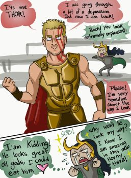 ON THORS NEW LOOK by theperfectbromance