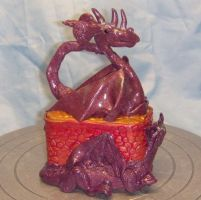 Dragon Family Trinket Box by CreativeCritters