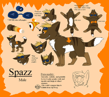 Spazz [OC Ref] by BanditKat