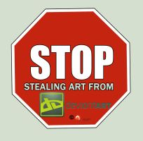 Stop Stealing Art From Deviantart by medek1