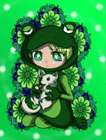 Frog costume by Danielle-chan