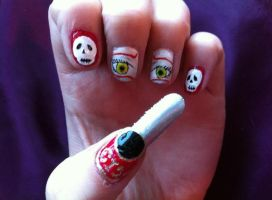 Grell Sutcliff Nails by HummingbirdHeartbeat