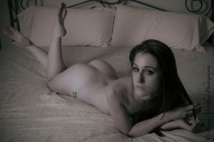 Artistic Nude Flirt by BrianMPhotography