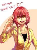 300 plurk fans thank! by LengYou