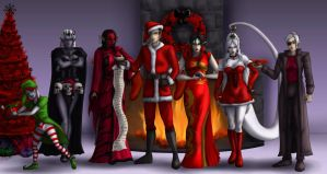 Kodia Christmas group shot-commission by Destinyfall