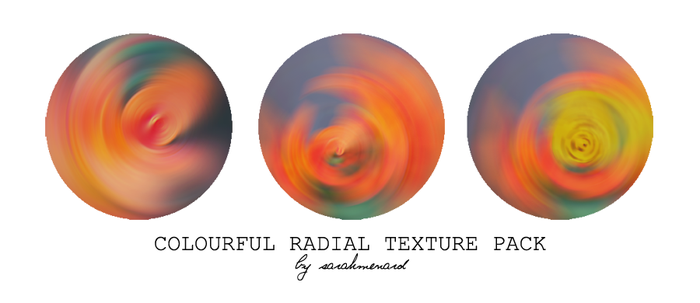 Colourful Radial Textures by SarahMenard