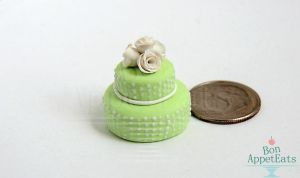 1:12 or 1:24 Green Tiered Cake by Bon-AppetEats