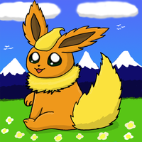 Hello Flareon by pichu90
