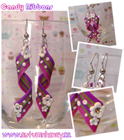 Ribbon Candy earrings by AutumnHoney