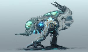 2 manned mech sketch by krassnoludek