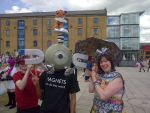 Me, Magnemite and Eevee - London MCM May by Froodals