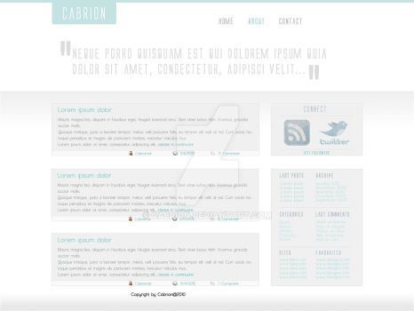Personal Site by cabrion