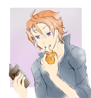Chase eats an Orange by Yuufee