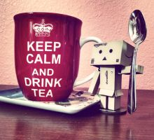 Keep Calm and Drink On, Danbo by MuffiaSmith