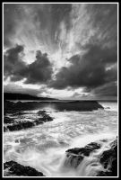 Turbulent Tides in BW by aFeinPhoto-com