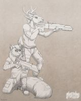 Jezzabelle and Andre by Plaguedog