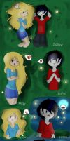 Fiolee ~ Watching the night's sky by Drawing-Heart