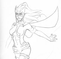 Huntress Sketch by bredenius