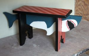 shark bench by shway--dude
