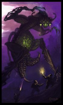 Alien bipedal insectoid by Cloister